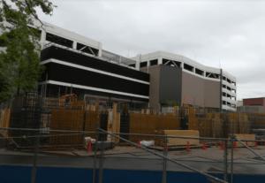 南町田グランベリーパーク建設中の駐車場の様子