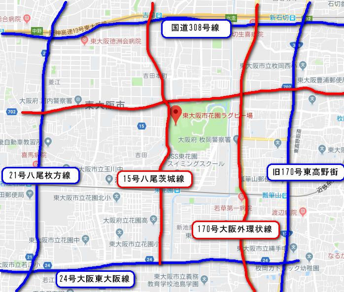 ラグビーワールドカップ大阪会場の混雑予想と迂回ルート(回り道順路)