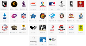 DAZNで見られるスポーツの一覧画像