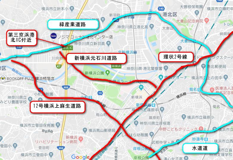 ラグビーワールドカップ横浜会場周辺の迂回ルート(回り道順路)